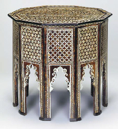 AN OTTOMAN MOTHER OF PEARL AND