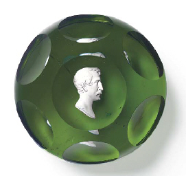 A BACCARAT FACETED SULPHIDE PO