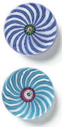 TWO CLICHY SWIRL WEIGHTS