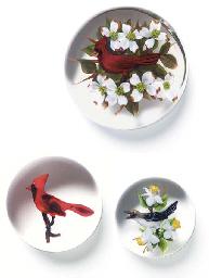 THREE RICK AYOTTE BIRD WEIGHTS