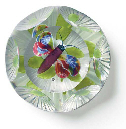 A BACCARAT FACETED BUTTERFLY A