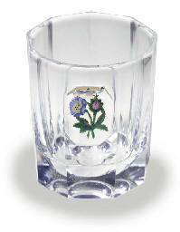 A BACCARAT FACETED CYLINDRICAL
