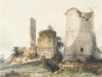 A ruined tower at Lillebonne