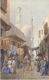 Arabs at the souk, Cairo