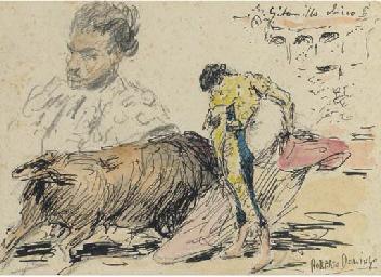 Study of a bullfight