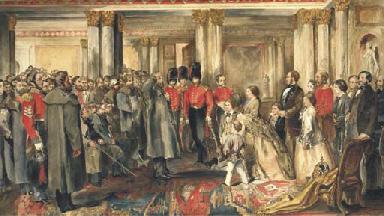 Queen Victoria receiving her G