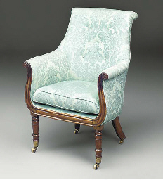 A WILLIAM IV ROSEWOOD BERGERE