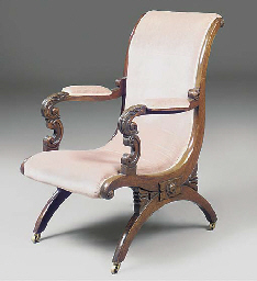 AN EARLY VICTORIAN ROSEWOOD EA