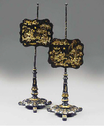 A PAIR OF VICTORIAN GILT AND M