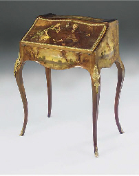 A FRENCH GILT METAL MOUNTED VE