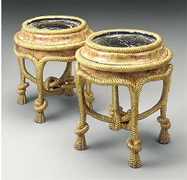 TWO GILTWOOD ROPE AND TWIST JA