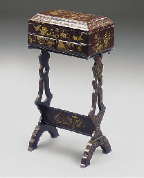 A CHINESE LACQUER WORK TABLE