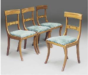 A set of four Regency mahogany