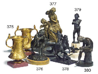 A bronze equestrian group of S