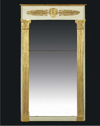 AN ITALIAN GILTWOOD AND PAINTE