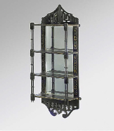 A late Victorian ebonised four