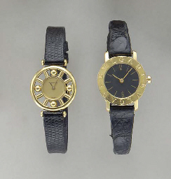 TWO GOLD WRISTWATCHES