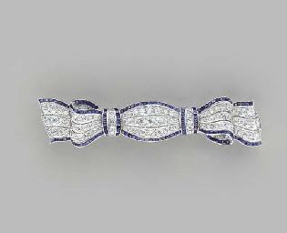 AN ART DECO DIAMOND, SAPPHIRE
