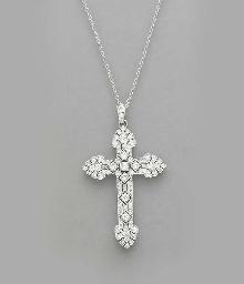 A DIAMOND AND PLATINUM CROSS P