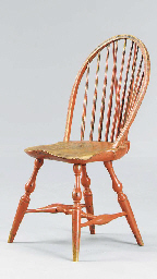 A BRACE-BACK RED-PAINTED WINDS