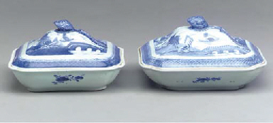 TWO CHINESE EXPORT PORCELAIN R