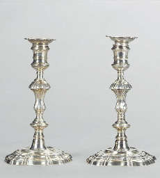 TWO PAIRS OF FOUR GEORGE II SI