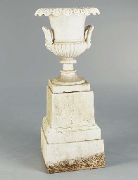 AN AMERICAN WHITE-PAINTED CAST