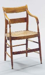 TWO CLASSICAL MAPLE CHAIRS; ON