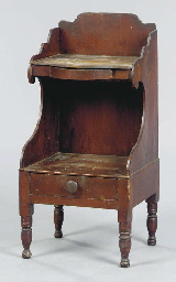 A STAINED PINE WASHSTAND