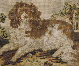 A VICTORIAN NEEDLEPOINT DEPICT