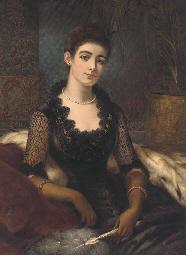 A portrait of Mrs James Alexan