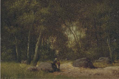 Figures in a forest; and Anoth