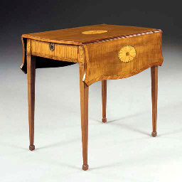 A GEORGE III INLAID SYCAMORE A