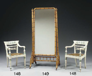 A VICTORIAN FRUITWOOD CHEVAL M