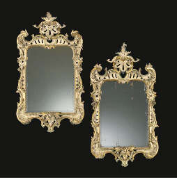 A PAIR OF GEORGE II CREAM AND