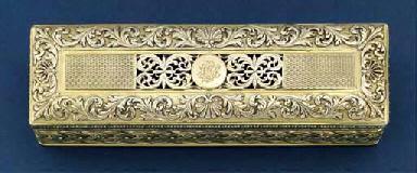 A George III silver-gilt toile