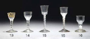 A facet-stemmed wine-glass and