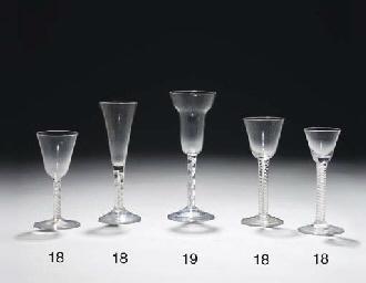 Five various opaque-twist wine