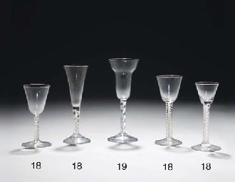 Four various wine-glasses