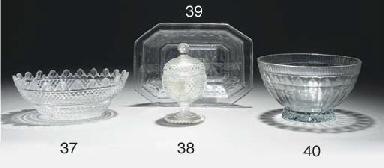A cut sugar-bowl and cover