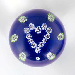 A Paul Ysart translucent blue-