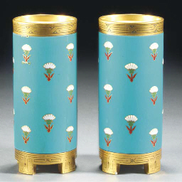 A Pair of Minton Spill Vases