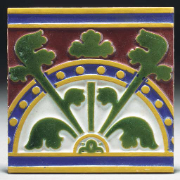 Four Minton and Co. Tiles