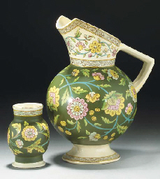 An Old Hall Indiana Ewer and V