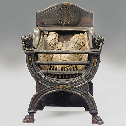 A CAST-IRON AND BRASS COALBROO
