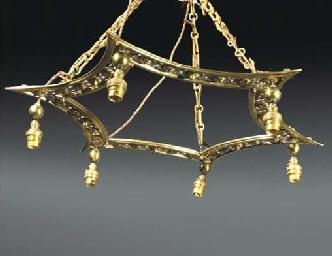 A Brass Light Fitting