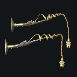 A Pair of Brass and Copper Wal