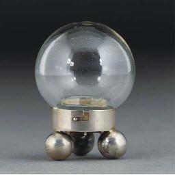 A White Metal and Glass Salt S