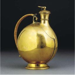 A Benham and Froud Brass Flask