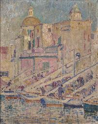 Le port de péche à Pozzuoli pr